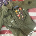 Fatique Jacket with Medals.