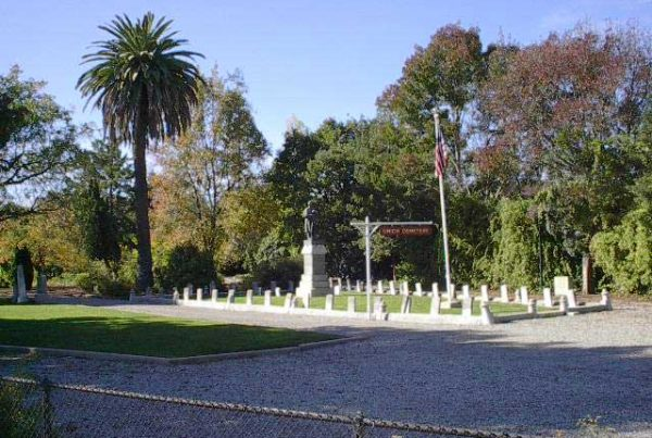 Historical Union Cemetery in Redwood City, CA c.1849