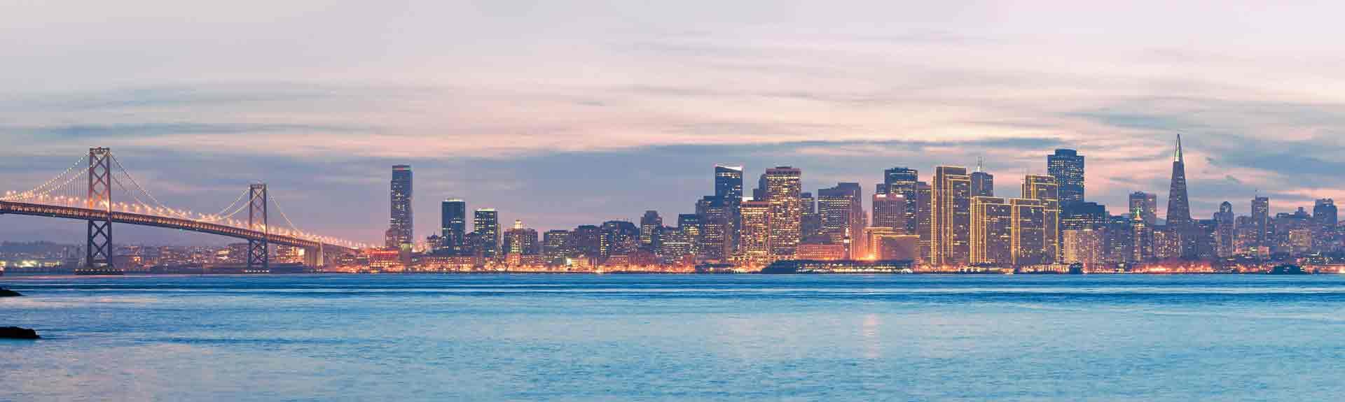 High resolution panorama of San Francisco Skyline and Bay Bridge